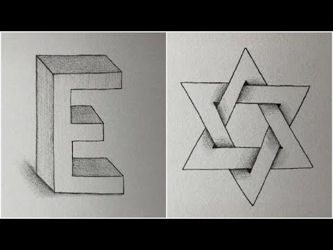 10+ Easy Drawings Trick - How to Draw 3D Arts