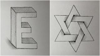 10+ Easy Drawings Trİck - How to Draw 3D Arts