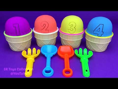 4 Color Kinetic Sand in Ice Cream Cups  Surprise Toys Coles Little Shop Yowie Surprise Eggs