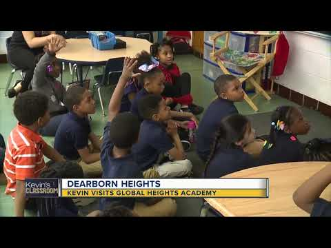 Kevin visits Global Heights Academy in Dearborn Heights
