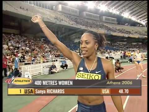 400m - Sanya Richards - 48.70 - World Cup Athens 2006