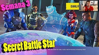 Fortnite Secret Star Battle Pass Week 3 - Week 3 Secret Battle Pass Tier Location