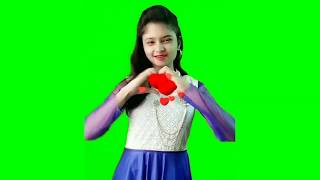 Beautiful Young Girl Green Screen Effects Vfx Chroma Key Dance Video