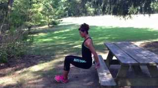 Outdoor Picnic Bench Workout GIJAYNEFITNESS - Quick and effective Picnic Table / Bench W