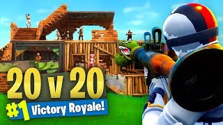 *NEW* LIMITED 20 VS 20 Mode GAMEPLAY Fortnite Battle Royale! thumbnail
