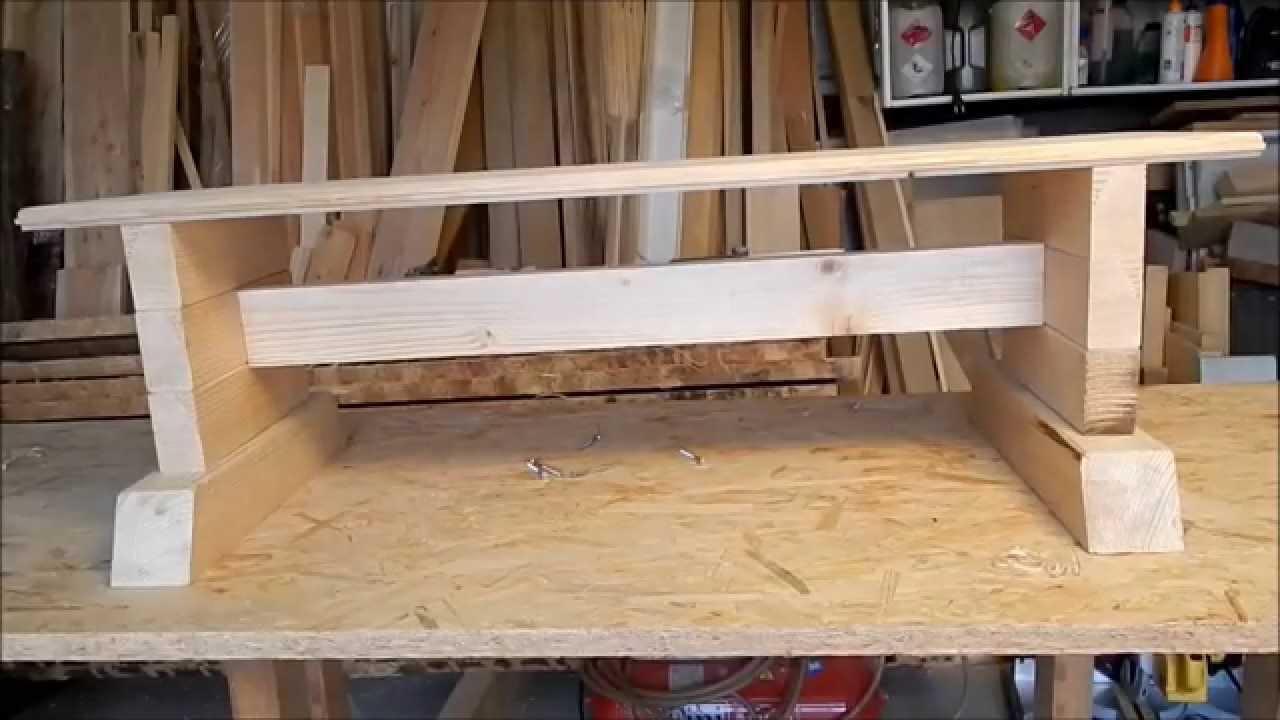 Meble Ogrodowe Z Drewna Jak Zrobic : Jak zrobić prostą ławkę # ZróbTo  Doovi