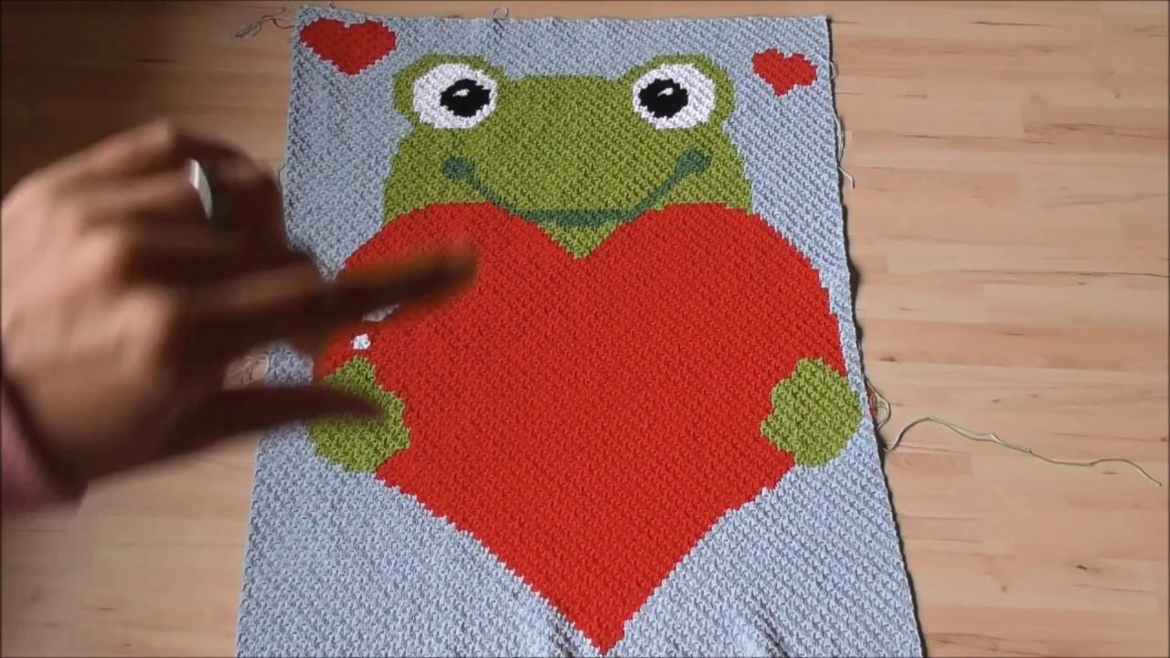 C2c Häkeln Corner To Corner Crochet Motivdecke Häkeln Part 3