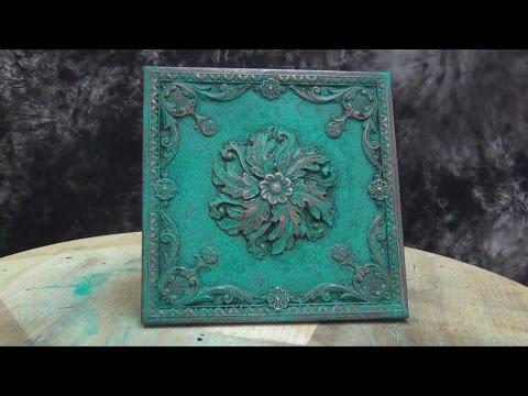 Cold Cast Bronze Tutorial: Mint green patina