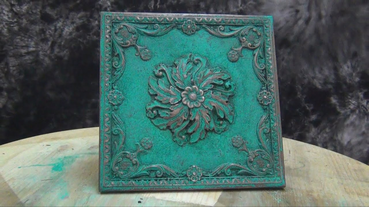 cold cast bronze tutorial mint green patina youtube. Black Bedroom Furniture Sets. Home Design Ideas