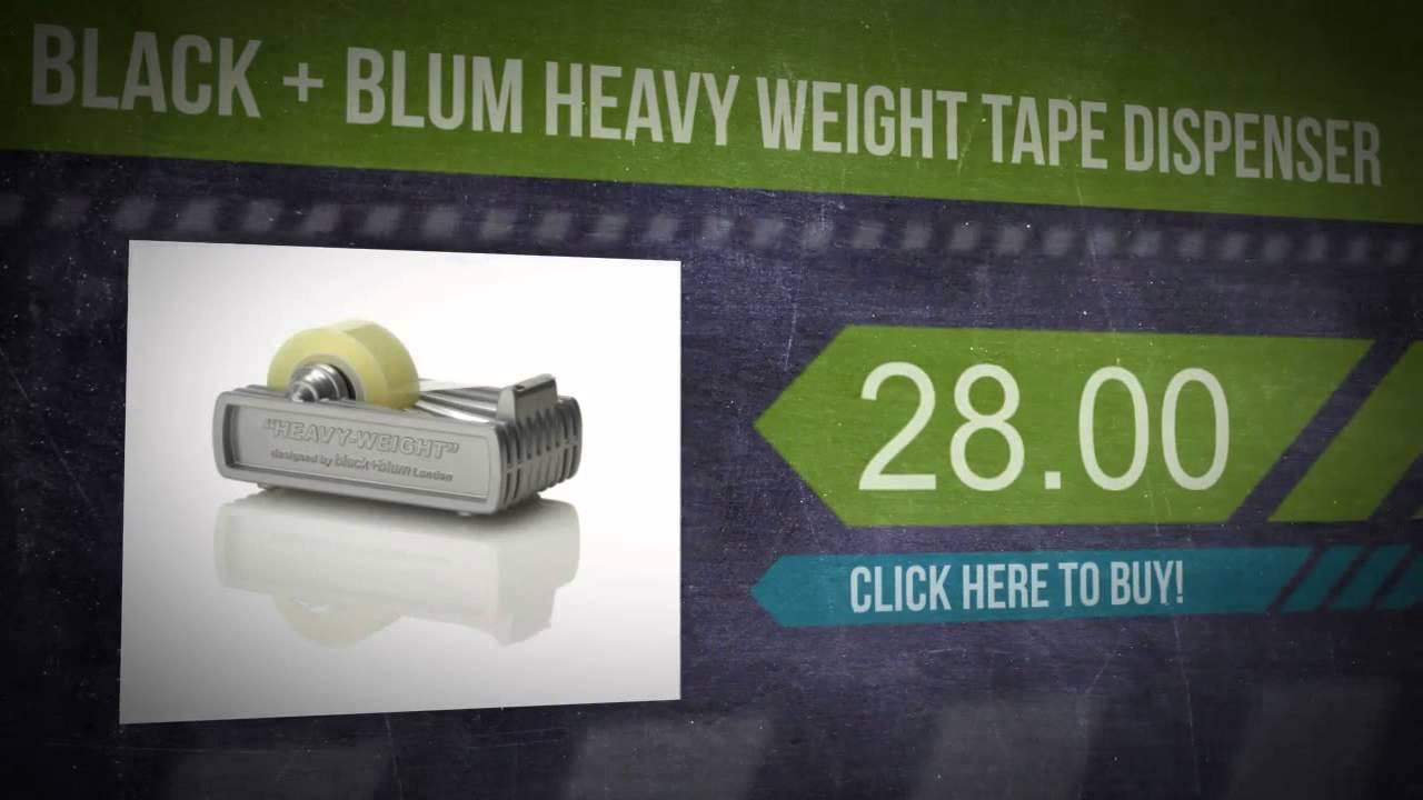 Black Blum Heavy Weight Tape Dispenser