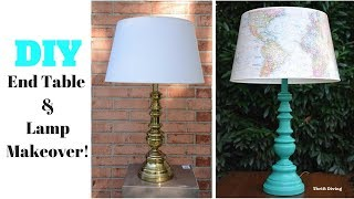 DIY End Table and Lamp Makeover: Furniture Makeover - Thrift Diving