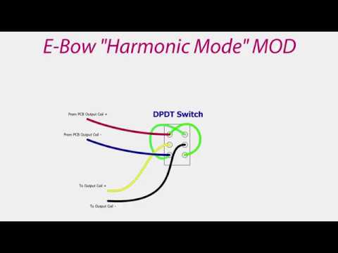 Diy E Bow Harmonic Mode Mod Youtube