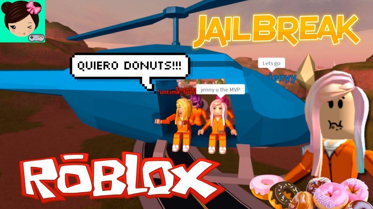 Titi Escapa De La Carcel Para Comer Donuts En Roblox Jailbreak Youtube