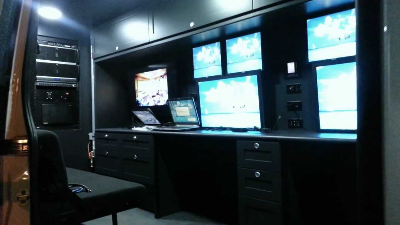 command and control vehicle 2012 mercedes sprinter interior at night youtube. Black Bedroom Furniture Sets. Home Design Ideas