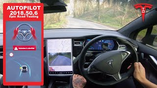 Extreme Tesla Enhanced Autopilot Testing - Narrow Roads & Hills in Wales  - How Will It Do?