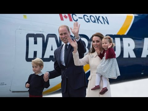Royal farewell: Will & Kate and the kids at the Victoria Harbour seaplane terminal