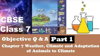 CBSE Class 7 Science objective MCQs question answer Chapter 7 Weather, Climate and Adaptation of Ani