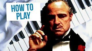 Как сыграть музыку из фильма Крестный отец на фортепиано (How to play The Godfather theme piano)