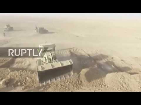 Iraq: Drone captures Iraqi-led coalition forces massing west of Mosul