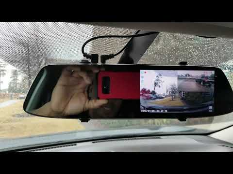 Vehicles Dual Lens Front And Rear Dash Cam Dvr Mirror