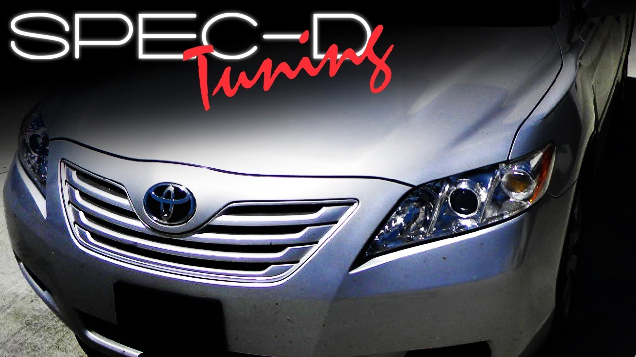 2011 Toyota Camry White >> SPECDTUNING INSTALLATION VIDEO: 2007-2008 CAMRY HEADLIGHT - YouTube