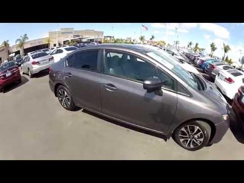 2014 Honda Civic EX Sedan Gray Modern steel