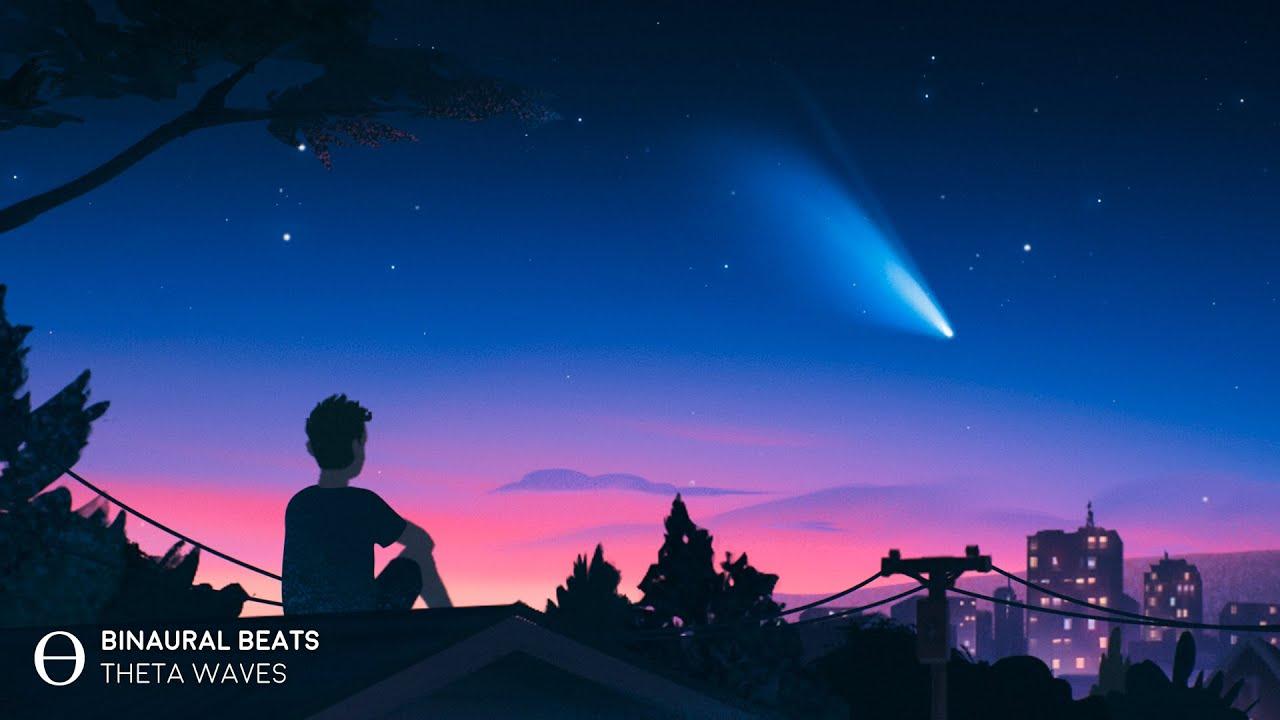 "[ Just Fall Asleep ] SOOTHING Sleep Music ""Comet NEOWISE"" Binaural Beats 4Hz Theta"