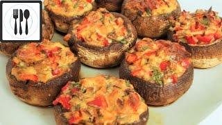 Фаршированные грибы по-турецки/Долма из грибов с перцем и сыром/Mantar dolmasi