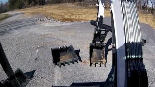 Bobcat Excavator My First Quick Exchange to the 3 foot