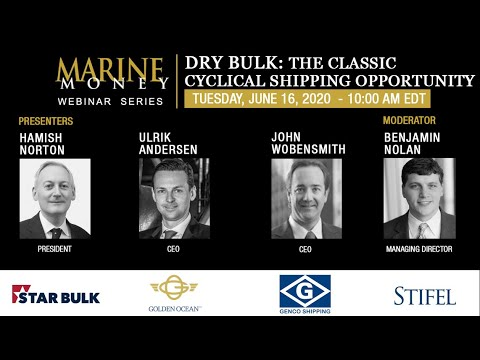 Marine Money Week, 2020 Session 3 (webcams)– DRY BULK: THE CLASSIC CYCLICAL SHIPPING OPPORTUNITY