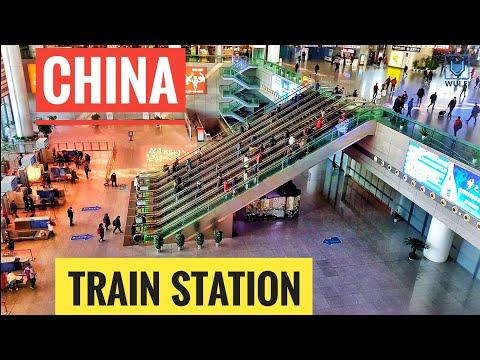 HUGE train station in China | Nanjing Shanghai