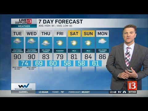 Sean Ash's Noon Doppler 13 Forecast - Aug. 19, 2019