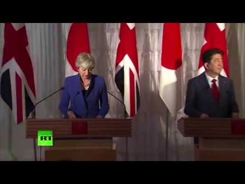 May holds joint presser with Japan's Shinzo Abe (FULL)