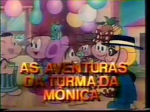 Chamada Rede Manchete - Turma da Monica em A Princesa e o Robo, 1988