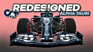 My REDESIGN of the 2021 Alpha Tauri Formula 1 Car