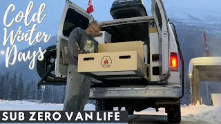 Van Life In SUB ZERO Temperatures | Road Advice From Truck Drivers, Installing Tire Chains