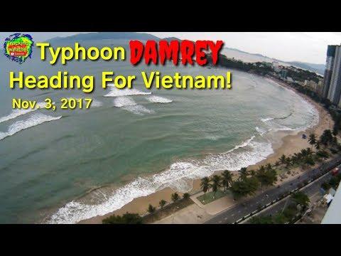 Typhoon Damrey will hit Vietnam Today, Live view from Nha Trang, Vietnam, November 3