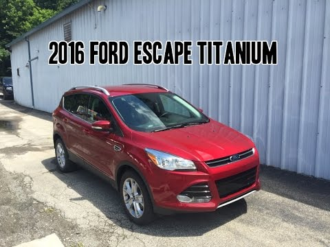 2016 ford escape titanium review youtube. Black Bedroom Furniture Sets. Home Design Ideas