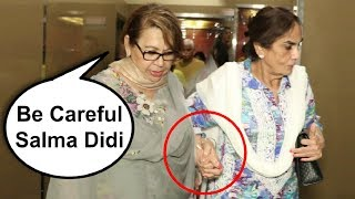 Salman Khan Mothers Salma Khan And Helen Taking Care Of Each Other
