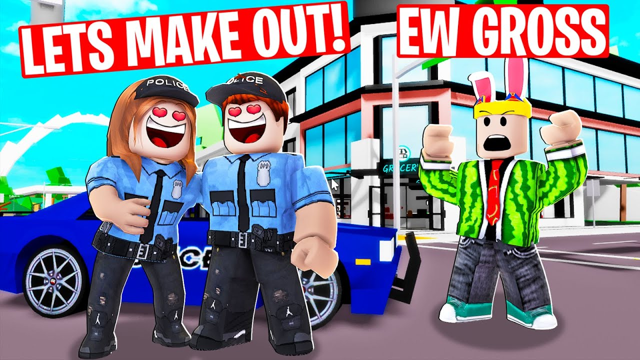 I caught 2 cops ONLINE DATING...they got big mad (Brookahven RP)