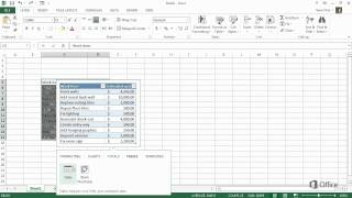Microsoft Excel 2013 - Create your first Excel 2013 workbook - Start using Excel 2013 - Video 1 of 5