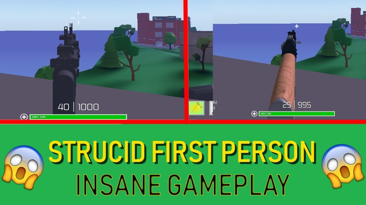 PLAYING STRUCID FIRST PERSON😱 I WON THE GAME😱 - YouTube