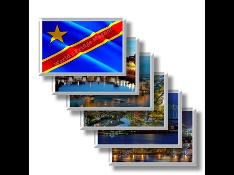 CD - Travel in DEMOCRATIC REPUBLIC OF THE CONGO - rectangular magnets and souvenirs
