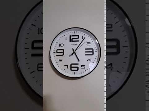 "Wall Clock, 12"" Silent Non-Ticking Quartz Decorative"