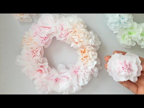 【ペーパーナプキン】春いっぱい!フラワーリース  【Paper napkin】Spring full! Flower wreath