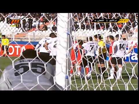 Tractor Sazi vs. Al Ahli 1 - 0 Goal F. Ahmadzadeh Iran  AFC Champions League فوتبال ایران