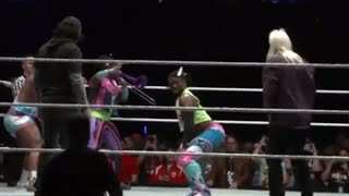 The New Day dance with The Hardys and The Rock 'n' Roll Express at Starrcade: Nov. 25, 2017