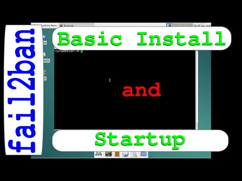 fail2ban basic install and run