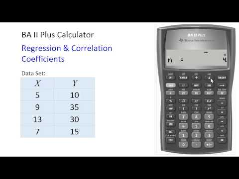 BAII Plus - Correlation And Regression Coefficients