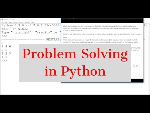 #28 Python Tutorial  | Problem solving in Python thumbnail